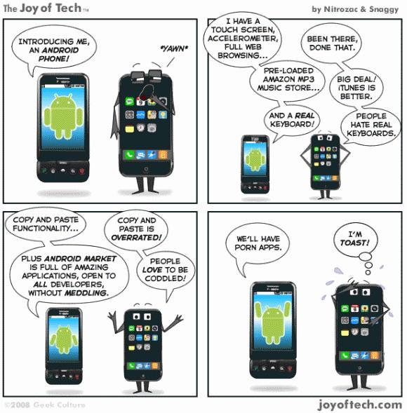 La supériorité dAndroid sur les iPhones