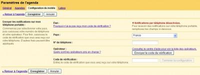 Agenda Google : recevoir des notifications par SMS