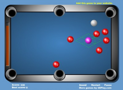 (Jeu Flash) Mini Pool 2 : un billard nerveux