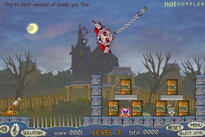 (Jeu Flash) Roly Poly Cannon : Bloody Monsters Pack