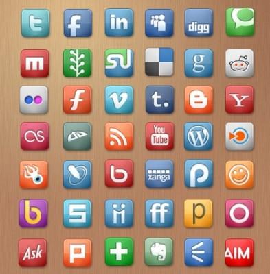 50 superbes séries d'icônes gratuites sur les médias sociaux