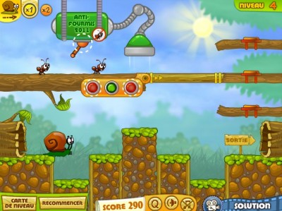 (Jeu Flash) Snail Bob 2 : le retour de l'escargot tranquille