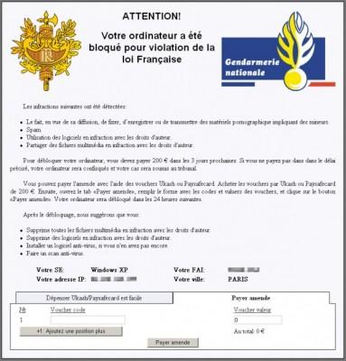 Le virus Gendarmerie