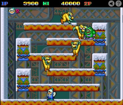 (Jeu Flash) Snow Bros : indémodable