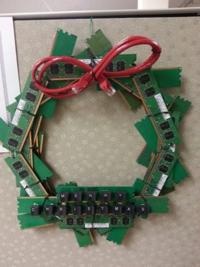 Une couronne de Noël pour geek