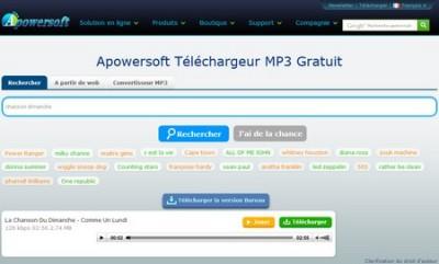 Apowersoft : un téléchargeur de MP3 Gratuit