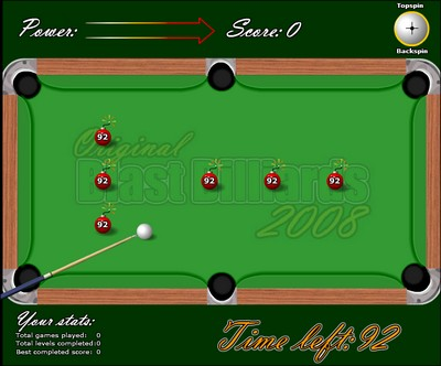 Jeu flash gratuit : Blast Billards 2008