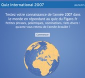 Quiz International 2007 du Figaro